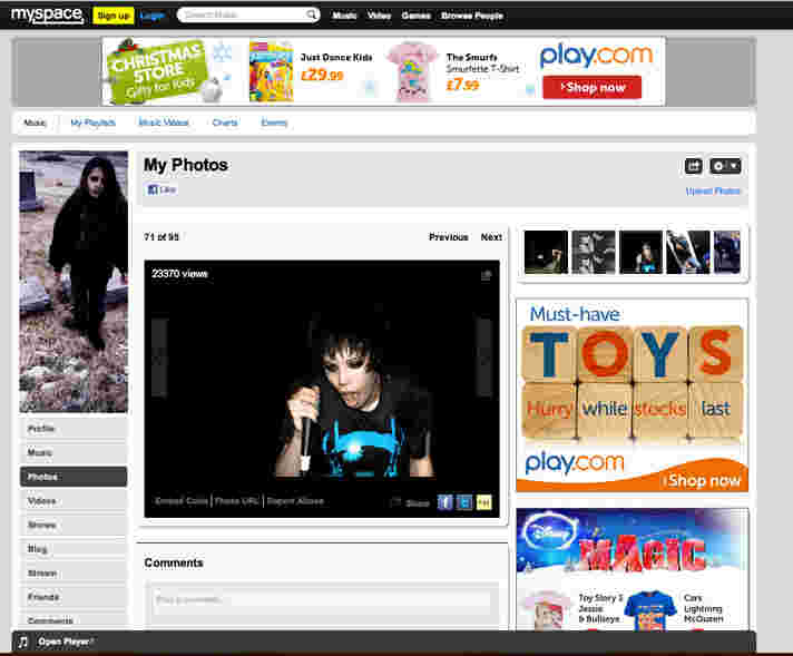 Offical Crystal Castles myspace